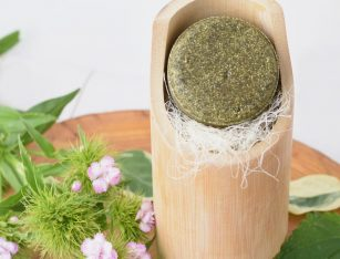 Naravni ajurvedski trdi šampon za mastne lase